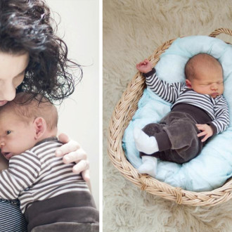preview: newborn photo session with Lucien