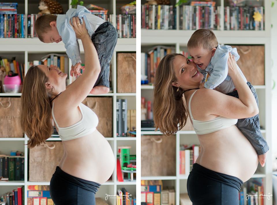 Schwangerschaftsfotos daheim