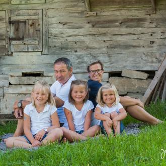 Familienfotoshooting auf der Wolzenalp
